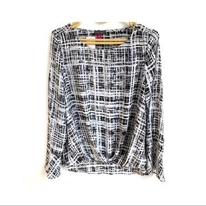 VINCE CAMUTO Foldover Blouse